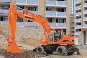 斗山轮式挖掘机