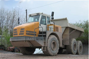 利勃海尔铰接式卡车