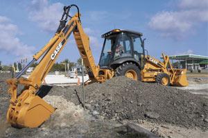 凯斯挖掘装载机