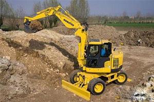 小松轮式挖掘机